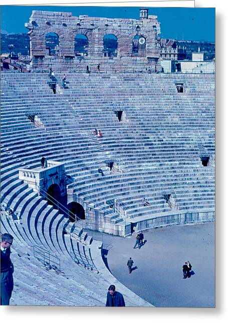 Arena Verona Interior 1962 Greeting Card by Cumberland Warden