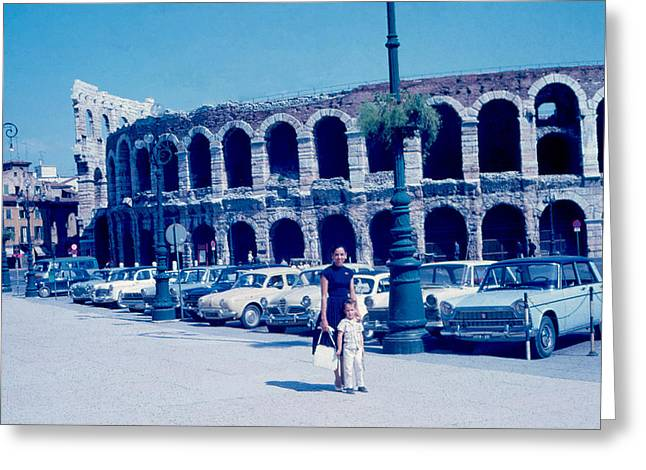 Arena Verona Italy 1962 Greeting Card by Cumberland Warden