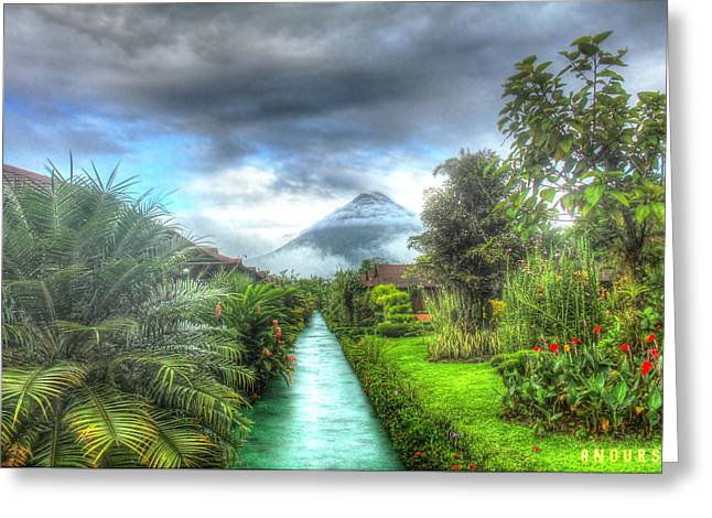 Arenal Greeting Card