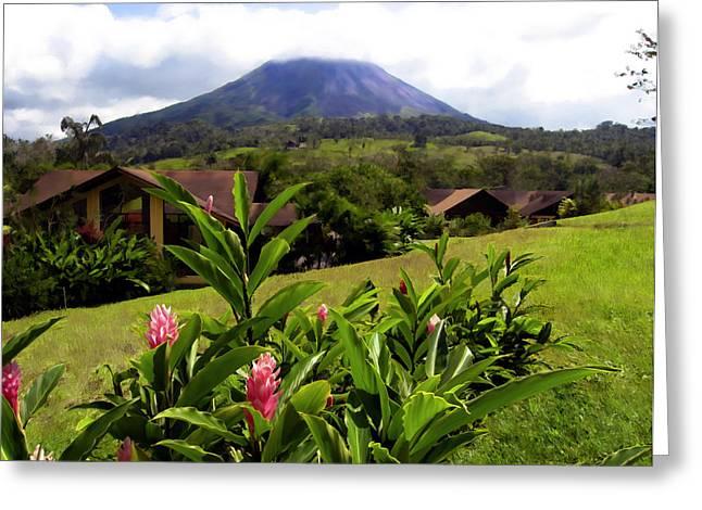 Arenal Costa Rica Greeting Card by Kurt Van Wagner