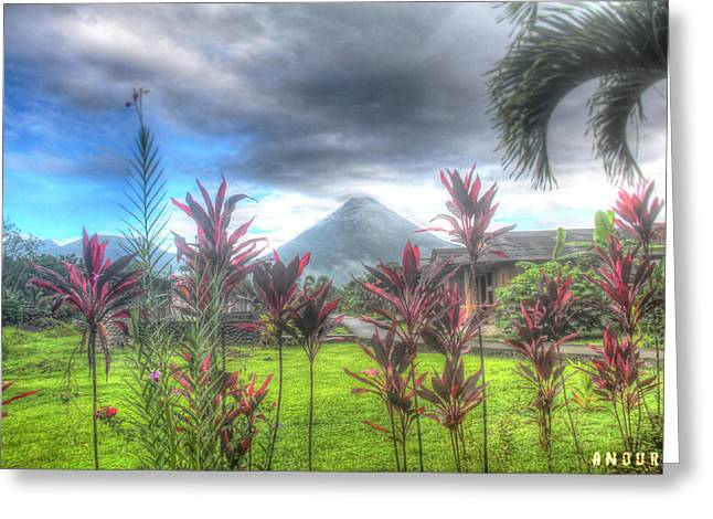 Arenal Volcanoe Greeting Card