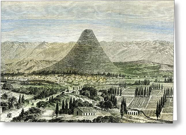Arequipa Town And Valley 1869 Peru Greeting Card by Peruvian School