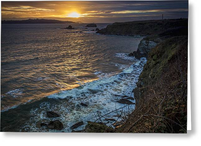 Ares Estuary Mouth Galicia Spain Greeting Card by Pablo Avanzini