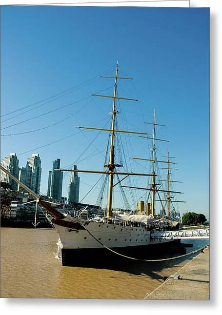 Argentina Buenos Aires Puerto Madero Greeting Card by Inger Hogstrom