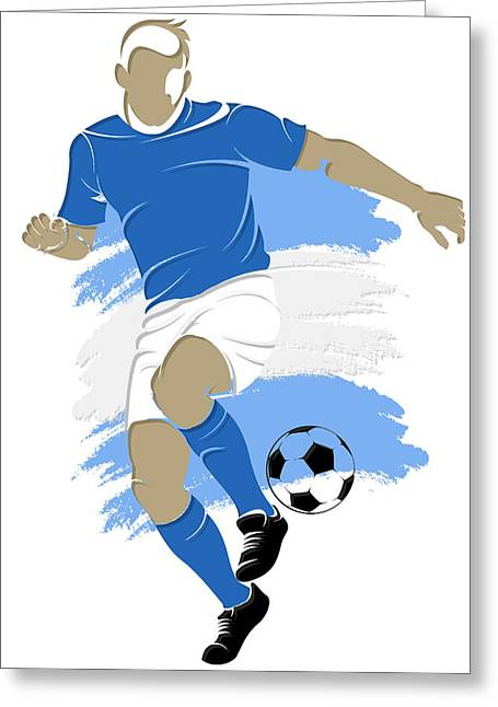 Argentina Soccer Player4 Greeting Card by Joe Hamilton