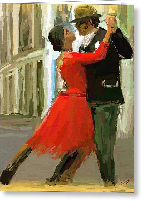 Argentina Tango Greeting Card by James Shepherd