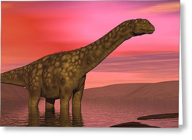 Argentinosaurus Dinosaurs Amongst Greeting Card