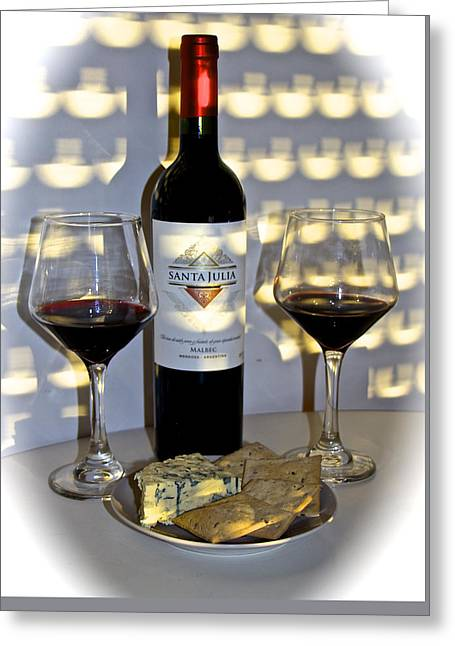 Argentine Previa Wine And Cheese Greeting Card