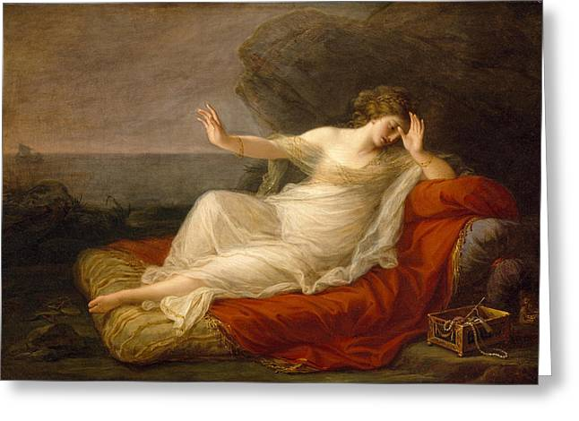 Ariadne Abandoned By Theseus Greeting Card by Angelica Kauffmann