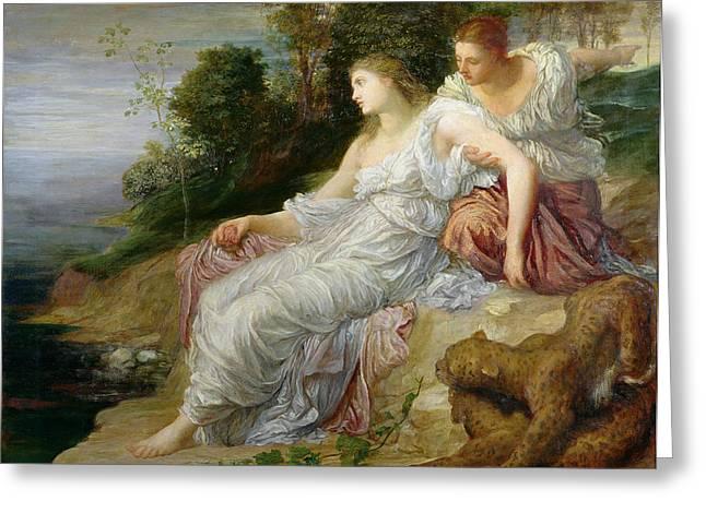 Ariadne In Naxos, 1875 Oil On Canvas Greeting Card