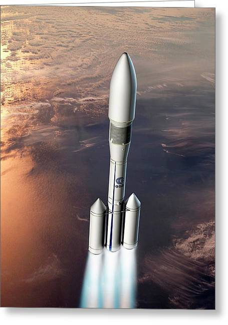 Ariane 6 Rocket Launch Greeting Card by European Space Agency/d. Ducros
