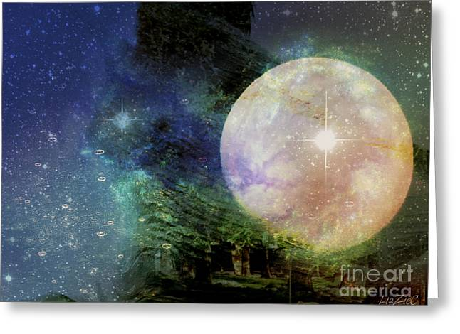 Arianrhod Greeting Card by Liz Campbell