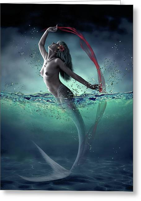 Ariel Greeting Card by Dmitry Laudin