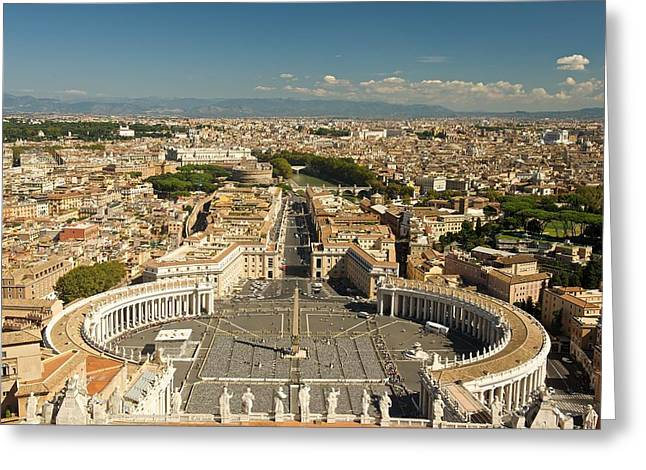 Ariel Image Of Rome Greeting Card by Stephen Taylor
