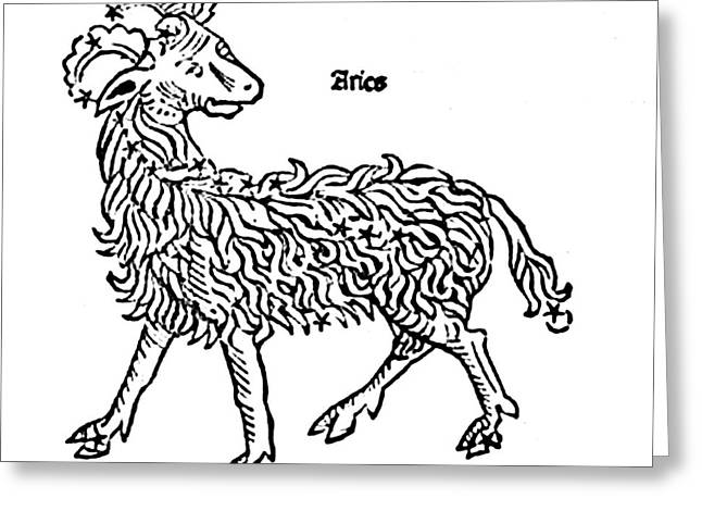 Aries Constellation Zodiac Sign 1482 Greeting Card