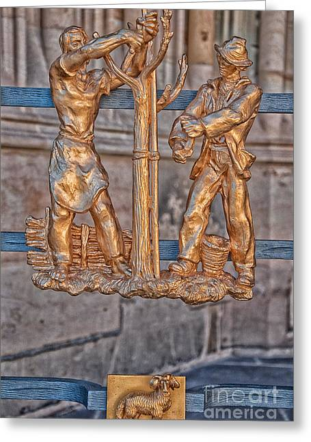 Aries Zodiac Sign - St Vitus Cathedral - Prague Greeting Card by Ian Monk