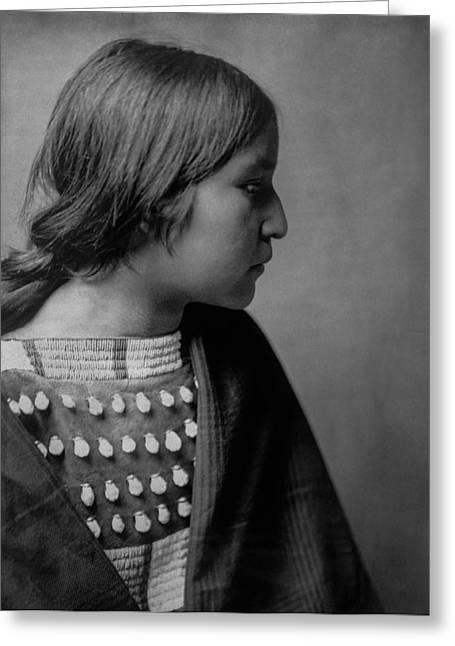 Arikara Girl Circa 1903 Greeting Card