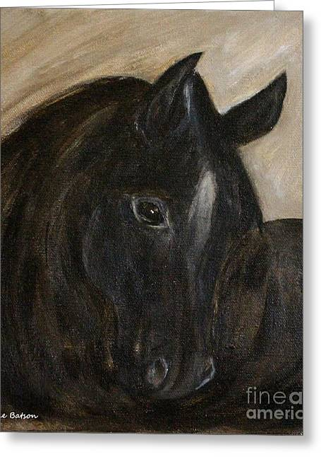 Greeting Card featuring the painting Arion by Barbie Batson