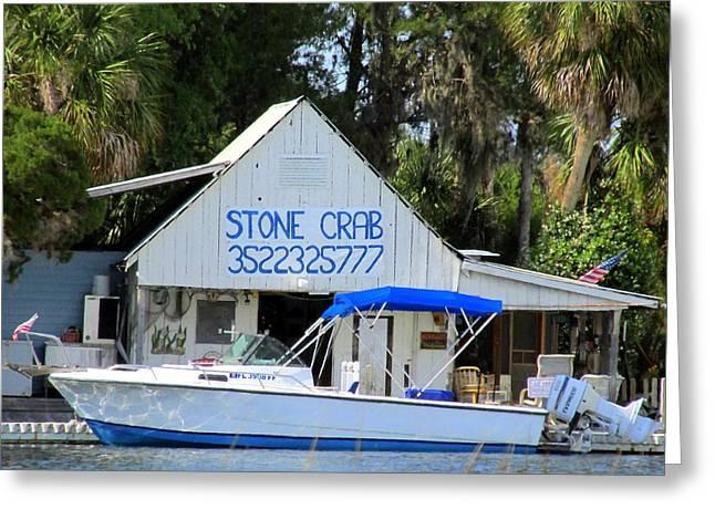 Aripeka Stone Crab Sales I Greeting Card by Buzz  Coe