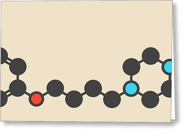 Aripiprazole Antipsychotic Drug Molecule Greeting Card by Molekuul