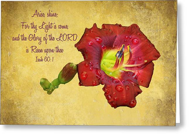 Arise Shine Greeting Card