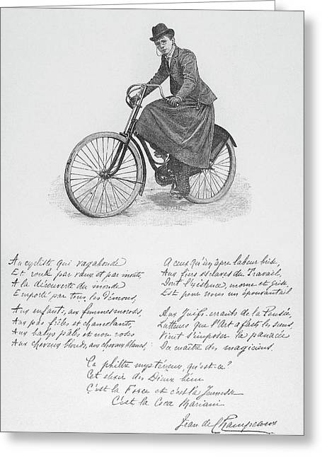 Aristocrat On Wheels, C1900 Greeting Card by Granger