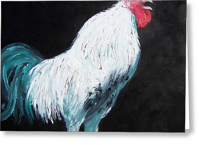 Aristotle The Rooster Greeting Card by Jan Matson