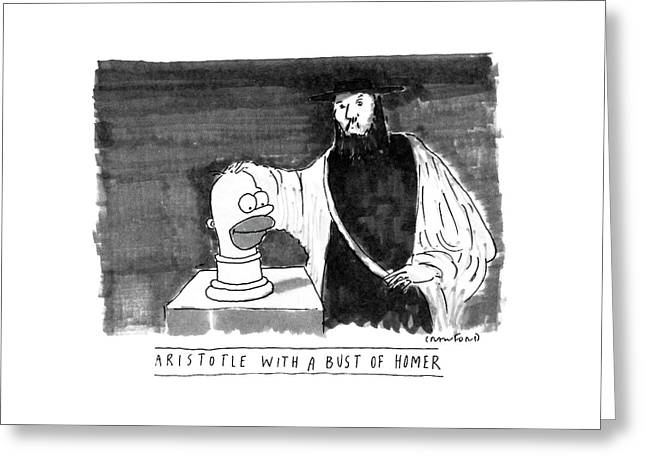 Aristotle With A Bust Of Homer: Greeting Card