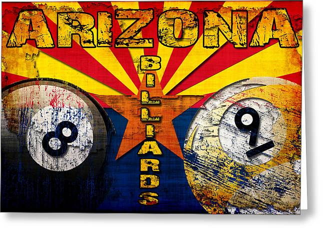 Arizona Billiards Greeting Card by David G Paul