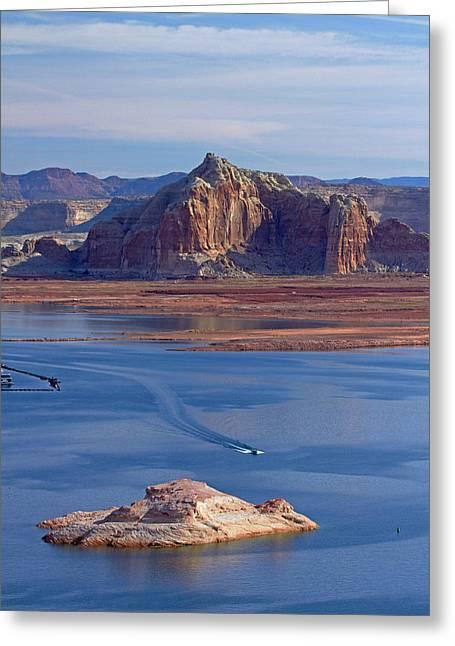 Arizona, Boats On Lake Powell Greeting Card
