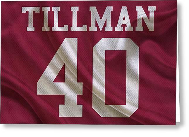 Arizona Cardinals Pat Tillman Greeting Card by Joe Hamilton