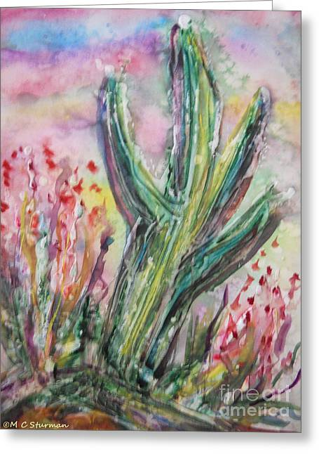 Arizona Desert Greeting Card by M C Sturman
