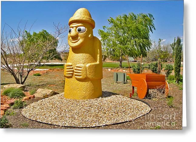 Arizona Harubang Statue Greeting Card by Gregory Dyer