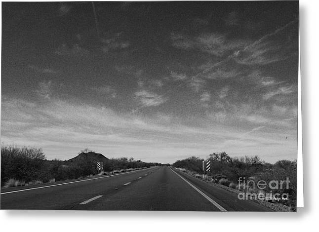 Arizona Highway 70 West Greeting Card by Methune Hively