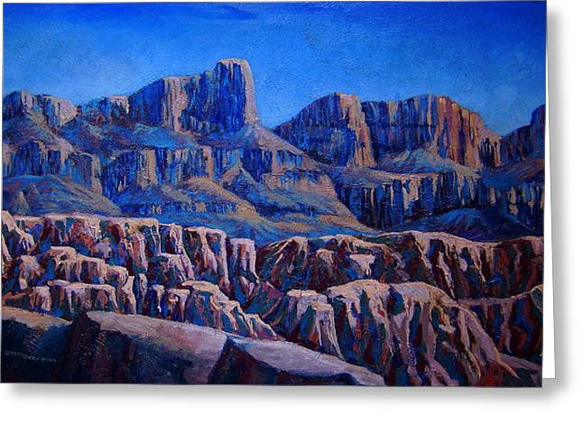Arizona Landscape At Sunset Greeting Card by Dan Terry