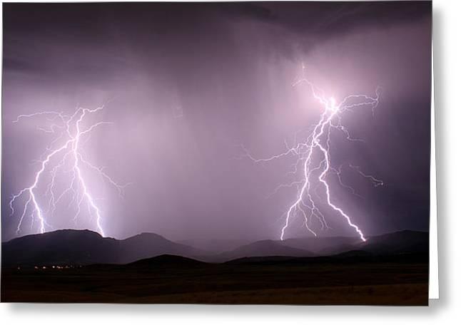 Arizona Lightning Storm Greeting Card
