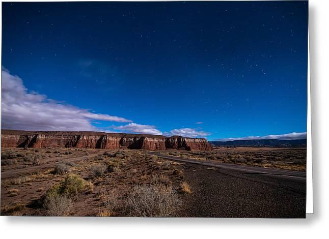 Arizona Mesa At Night Greeting Card