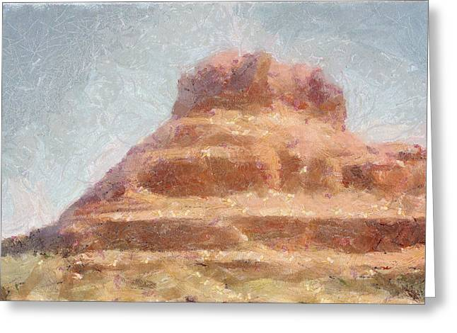 Arizona Mesa Greeting Card by Jeff Kolker