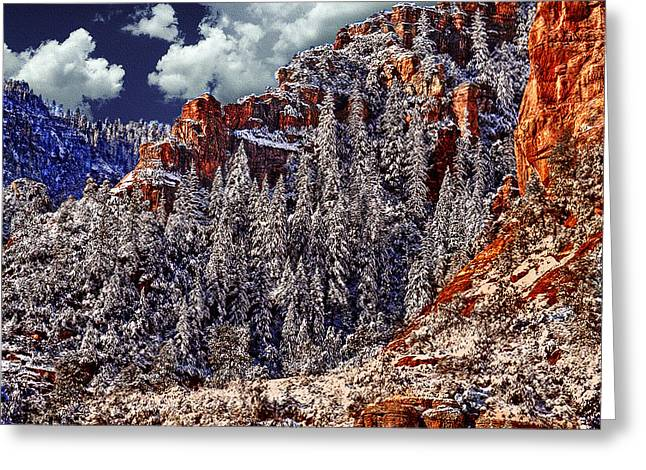 Arizona Secret Mountain Wilderness In Winter Greeting Card