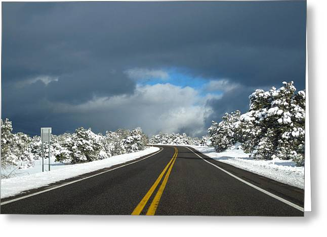 Arizona Snow 1 Greeting Card