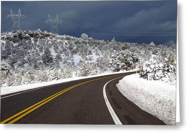 Arizona Snow 2 Greeting Card