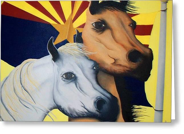 Arizona Spirit Greeting Card by Patrick Trotter