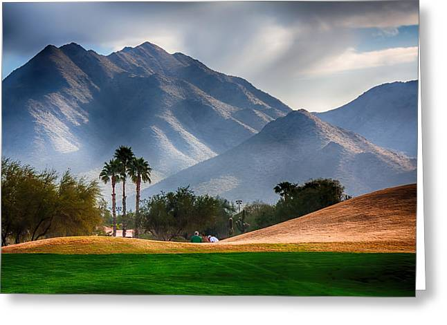 Arizona Sunrise Golfing Greeting Card