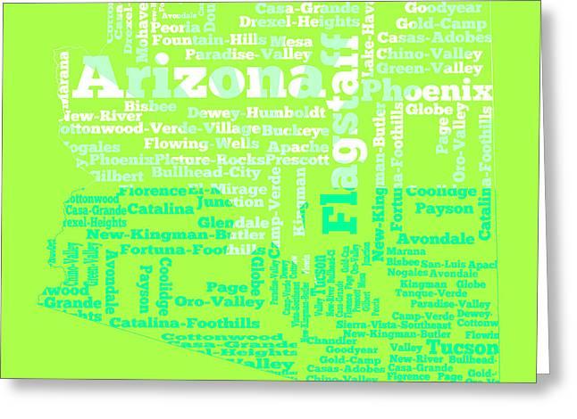 Arizona Word Cloud 4a Greeting Card