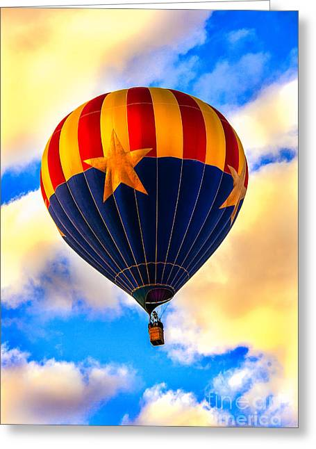 Arizonia Hot Air Balloon Special Greeting Card by Robert Bales