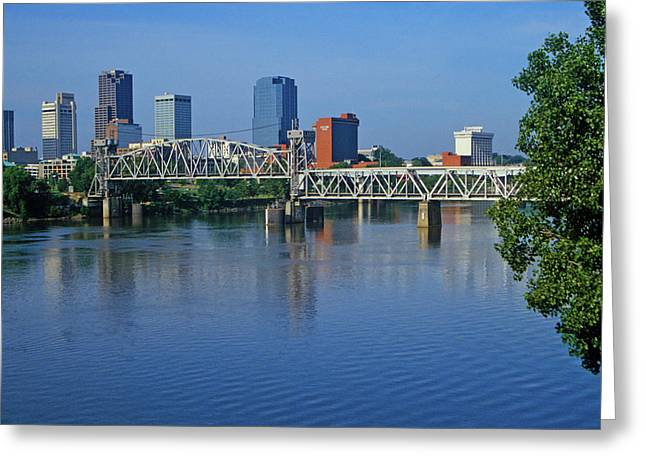 Arkansas River View From North Little Greeting Card