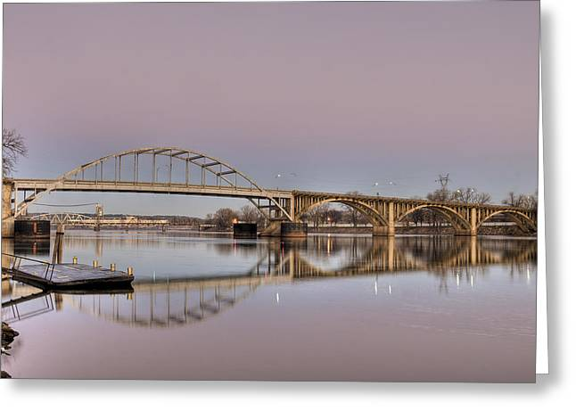 Arkansas Sunrise Greeting Card by Ray Devlin