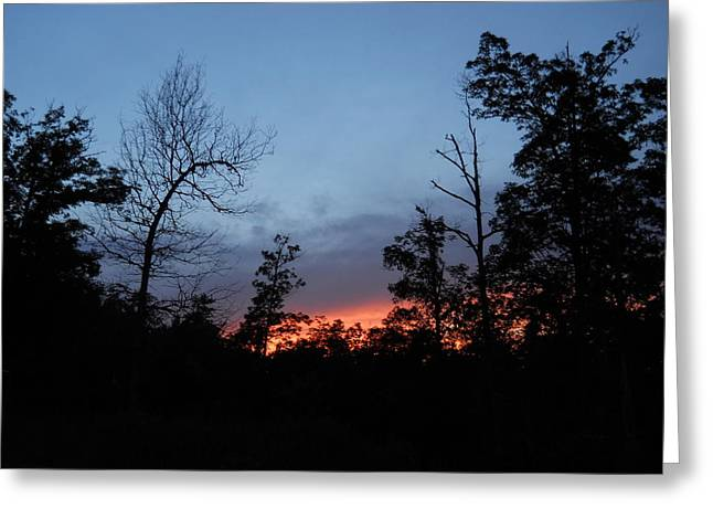 Arkansas Sunset Greeting Card by Yolanda Raker