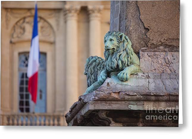 Arles Place De La Republique Greeting Card by Brian Jannsen