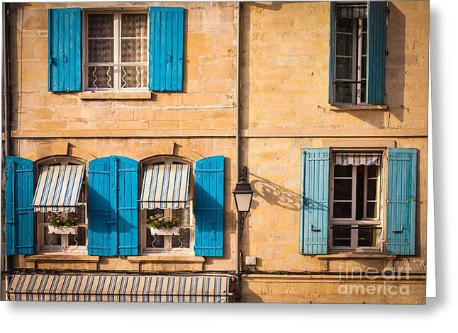Arles Windows Greeting Card